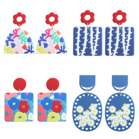 Fashion Cartoon Plant Flowers Resin Earrings  NHJQ370586's discount tags