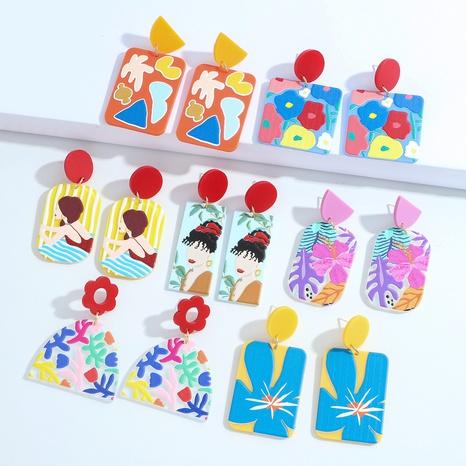 fashion cartoon flower fruit earrings NHJQ370589's discount tags