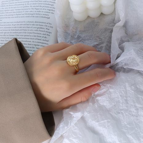 fashion round square titanium steel ring  NHOK370598's discount tags