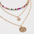 Bohemia Alloy Color Rice Beads Combination Necklace NHMD370603