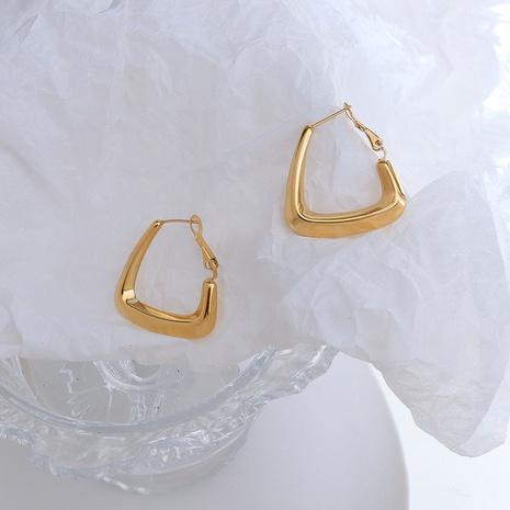 fashion triangle spring titanium steel earrings  NHOK370597's discount tags