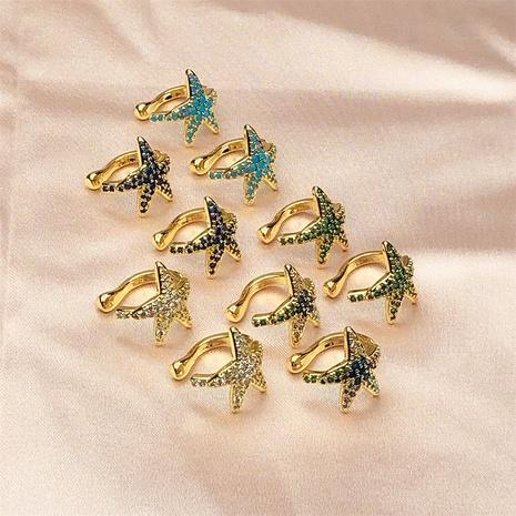 clip de hueso de oreja de estrella de cinco puntas de circón de color de moda NHPY370890's discount tags