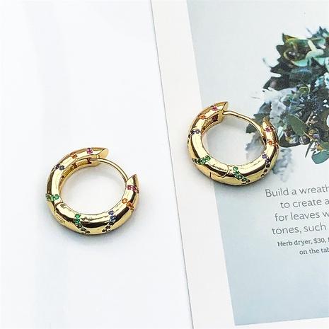 wholesale retro circle copper inlaid zircon ear buckle  NHPY370895's discount tags
