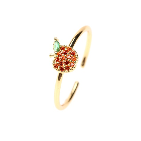 cute fruit apple watermelon cherry copper opening ring NHPY370908's discount tags