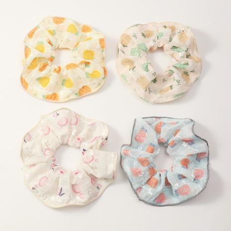 Korean peach pineapple fruit net yarn hair scrunchies NHAU370993's discount tags