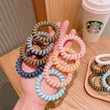 Koreanischer Haarring mit einfarbiger Telefonleitung aus Harz NHSA371160's discount tags