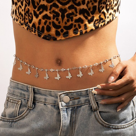 Nihaojewelry fashion butterfly tassel waist chain Wholesale jewelry NHGY374244's discount tags
