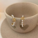 Korean retro Cshaped pearl camellia ear hoop NHBQ371246