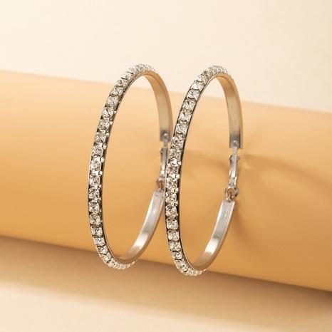 boucles d'oreilles géométriques cercle diamant en alliage de mode NHGY373041's discount tags
