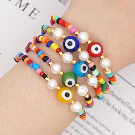 Bohemia Style Pearl Color Demon Eye Bracelets Wholesale NHYUX371263's discount tags