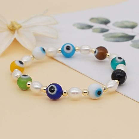 Bohemian Style Handmade Eye Pearl Bracelet Wholesale  NHYUX371267's discount tags