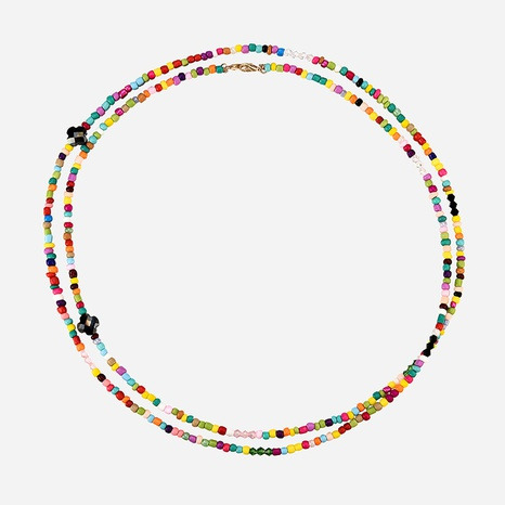Bohemian Style Color Rice Bead Necklace  NHXS371352's discount tags