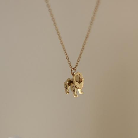 Bloque de construcción simple juguete león animal collar de acero de titanio NHGC371405's discount tags