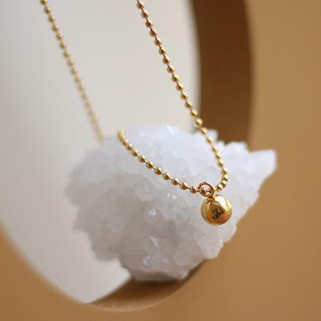 Collar de acero de titanio con cuentas de oro de bola pequeña coreana NHGC371446's discount tags