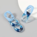 Fashion Korean candy color chainshaped resin earrings  NHJE371505