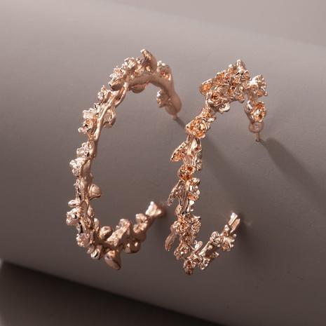 Nihaojewelry Schmuck Roségold C-förmige geometrische Ohrringe Großhandel NHGY374567's discount tags