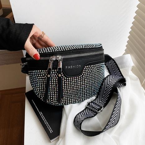 bolso de cintura lleno de diamantes de imitación de moda NHJZ371609's discount tags