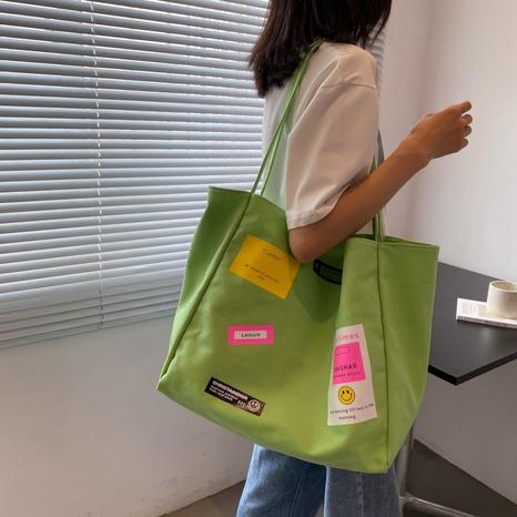 Modedruck große tragbare Schultertasche aus Canvas NHLH371638's discount tags