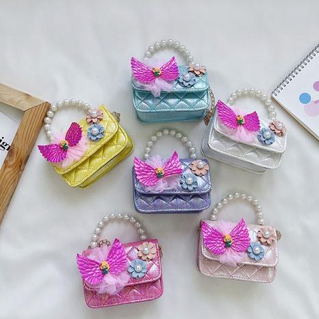 Koreanische bonbonfarbene Perlenschleife Handtasche NHAV371672's discount tags