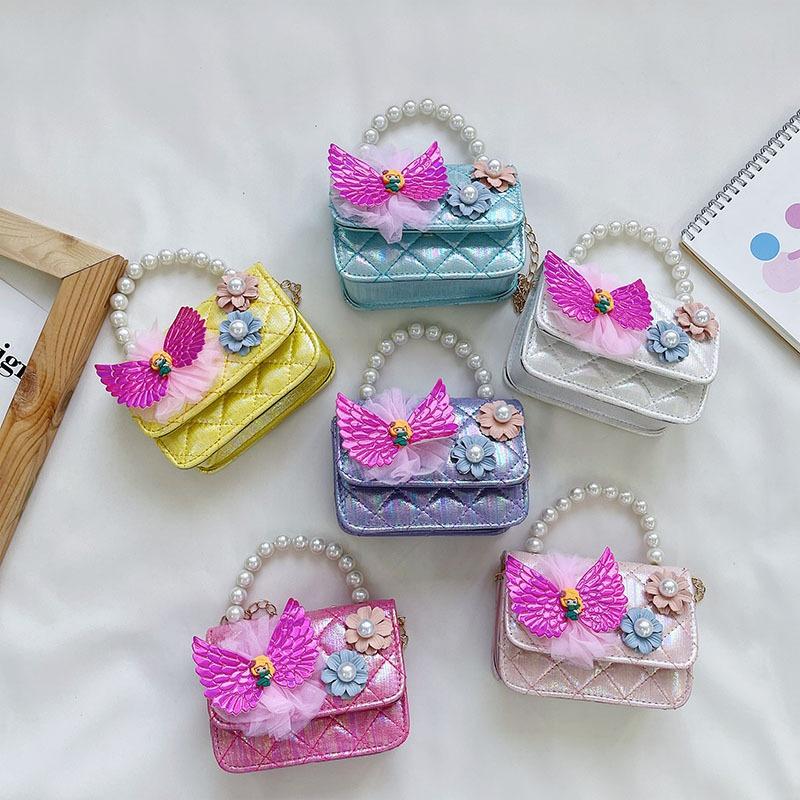 Korean candy color pearl bows handbag  NHAV371672