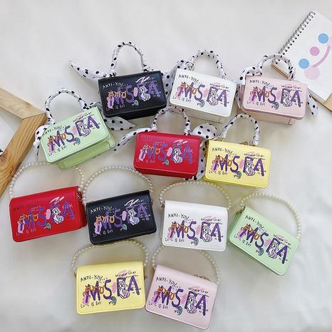 süße Cartoon Mini Graffiti Messenger kleine quadratische Tasche NHAV371677's discount tags