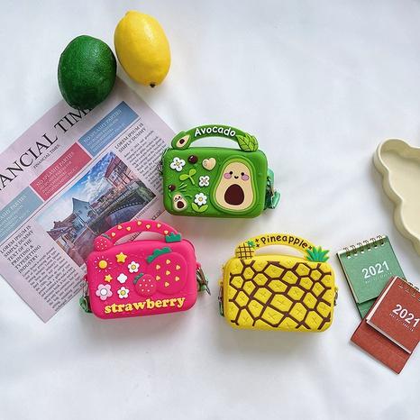 Koreanische Umhängetasche aus Silikon für Kinder fruit NHAV371680's discount tags