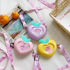 Cute Piggy Silicone Children's Messenger Bag  NHAV371681