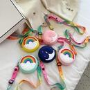 Fashion cute rainbow little star silicone children messenger bag  NHAV371679