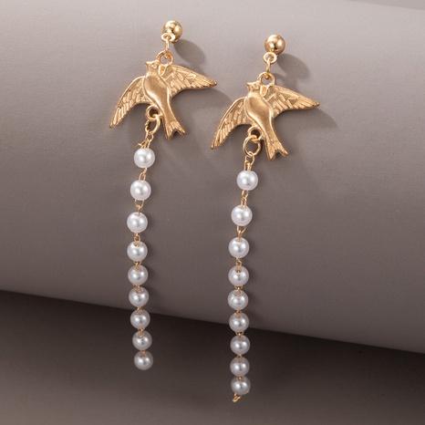 Boucles d'oreilles longues à pampilles de perles de colombe de la paix NHGY372920's discount tags