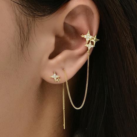 Großhandel Schmuck einfache Sternquastenohrringe Nihaojewelry NHAJ374895's discount tags