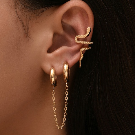 Großhandel Schmuck einfache Schlangenohrclip-Kombination Nihaojewelry NHAJ374894's discount tags