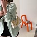 Korean straw woven leaf embroidery messenger bag  NHRU371814
