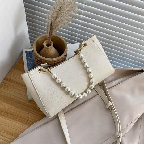 Mode einfarbig Perlenkette Messenger Bag NHRU371815's discount tags