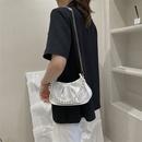 fashion solid color pearl chain armpit bag NHRU371818