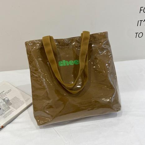 Koreanische transparente PVC-Leinwandtasche mit großem Fassungsvermögen NHRU371819's discount tags