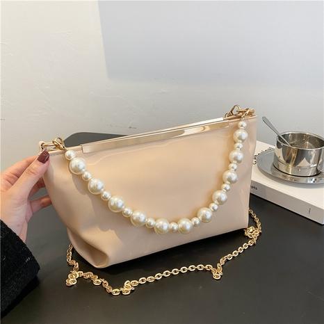 Mode Perlenkette einfarbig Umhängetasche NHRU371823's discount tags