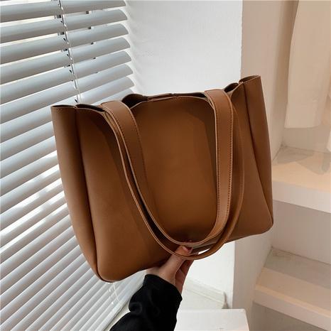 Koreanische einfarbige Einkaufstasche mit großem Fassungsvermögen NHRU371828's discount tags