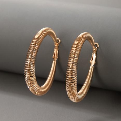Großhandel schmuck mode einfache frühling kreis ohrringe nihaojewelry NHGY374900's discount tags