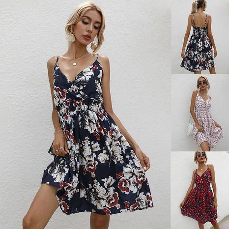 Chifon-Kleid mit V-Ausschnitt für Damen NHJC372238's discount tags