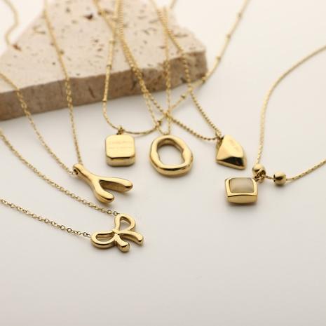 Collier en acier inoxydable avec pendentif en forme de variété de mode NHJIE372401's discount tags