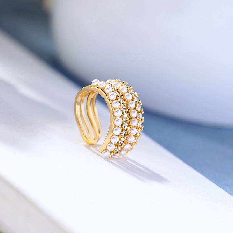 simple fashion pearl zircon ear bone clip wholesale  NHQD372409