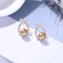 Fashion Pearl Cross Diamond Stud Earrings Wholesale NHQD372416