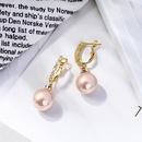 simple pearl crystal diamond copper earrings  NHQD372439