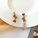 Fashion Cartoon Bear Pearl Tassel Earrings NHBY372605