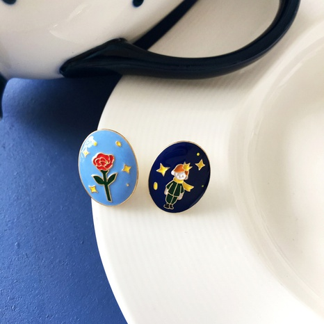 pendientes de goteo de flor de principito de estilo simple NHBY372612's discount tags