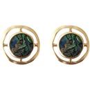 retro style circle matte metal earrings NHBY372667