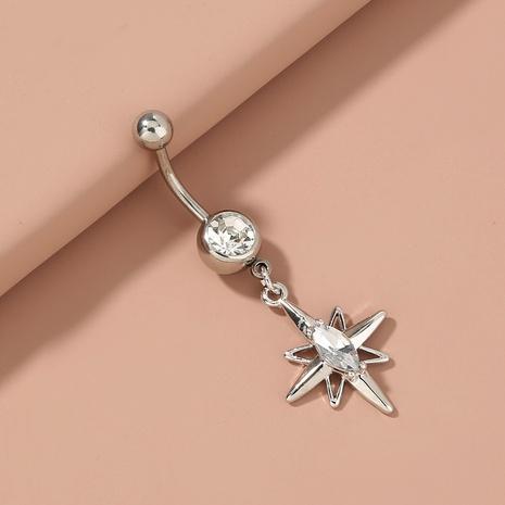 Mode Edelstahl diamantbesetzter Himmelsstern Anhänger Bauchnabelnagel Großhandel NHAN372704's discount tags