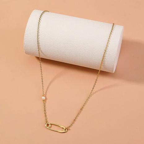 chaîne de clavicule simple couche pendante en alliage simple NHAN372734's discount tags