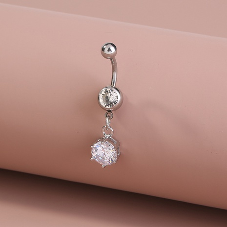 fashion stainless steel geometric belly button nail  NHAN372735's discount tags