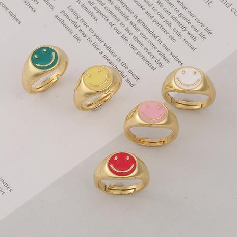 fashion drip oil smiley copper ring  NHBU372771's discount tags